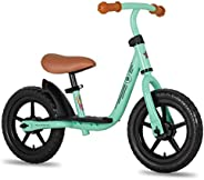 """JOYSTAR 10""""/12"""" Kids Balance Bike with Footrest for Girls & Boys, Ages 18 Months to 5 Years, Tod"""
