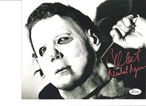 (Nick Castle signed 8x10 Photo Halloween Micheal Myers)