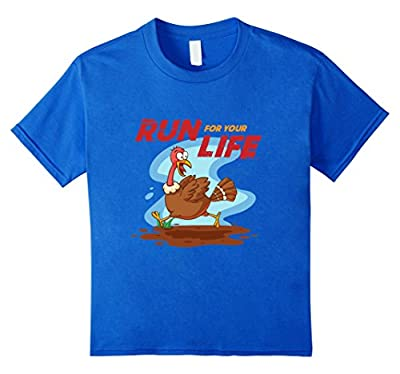 Run For Your Life Turkey Running Away Funny Holiday T-Shirt
