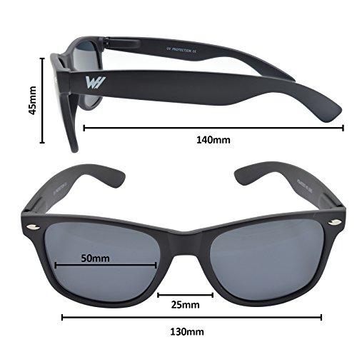 Unisex WHCREAT Lente New Polarizado mate Lente 400 de especular Bisagra Mate disponible Gafas Negro color Negro de Marco UV de protección primavera sol de 4qdwfqr