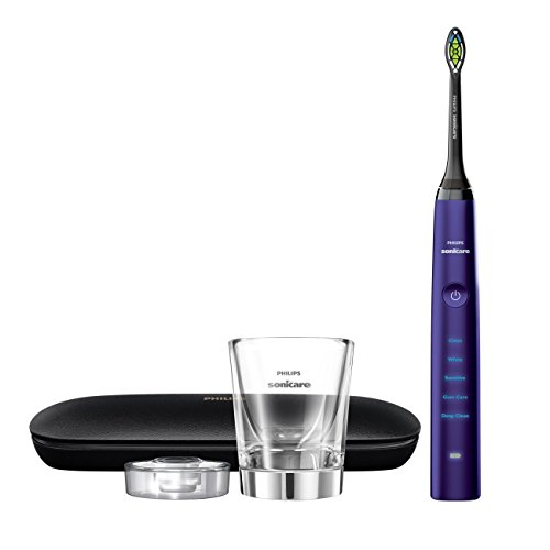 Philips Sonicare Diamond Clean Classic Rechargeable 5 brushing modes, Electric Toothbrush with premium travel case, Amethyst, HX9371/71