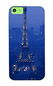 Armandcaron Tpu Case For Iphone 5c With Eiffel Tower Paris Night France , Nice Case For Thanksgiving Day's Gift