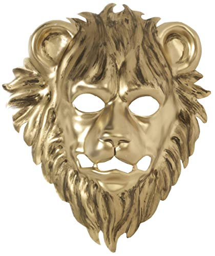 Forum Novelties 73394 Unisex-Adults Mask-Lion with Elastic, Gold, Standard, -