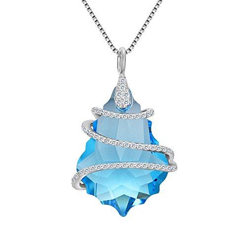 light blue crystal pendant - 4