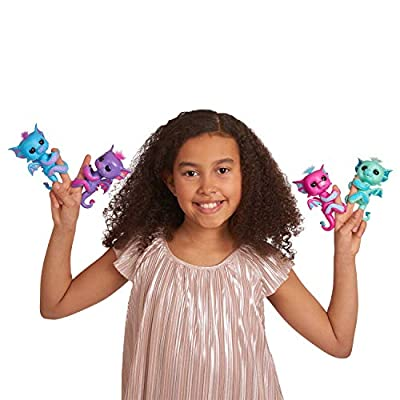 WowWee Fingerlings - Glitter Dragon - Tara (Blue with Purple) - Interactive Baby Collectible Pet - by: Toys & Games
