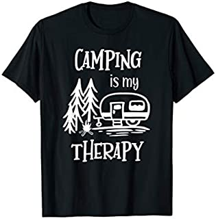 Best Gift Awesome Camping is my Therapy Camping  with Saying  Need Funny TShirt