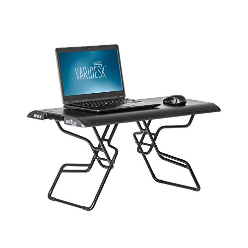 VARIDESK – Height Adjustable Portable Standing Desk for Small Spaces – Laptop 30