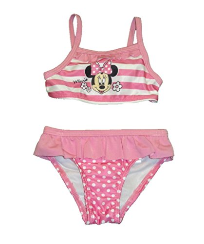 Minnie Mouse Toddler Girl Ruffled Bikini 2-Piece Swimsuit Size 3/6 Months