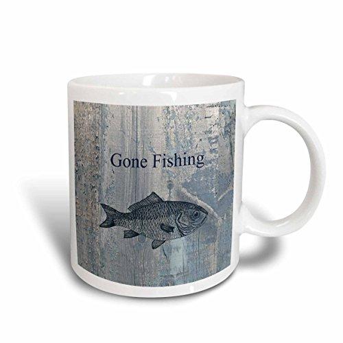3dRose mug_123416_2 Fishing Ceramic 15 Ounce