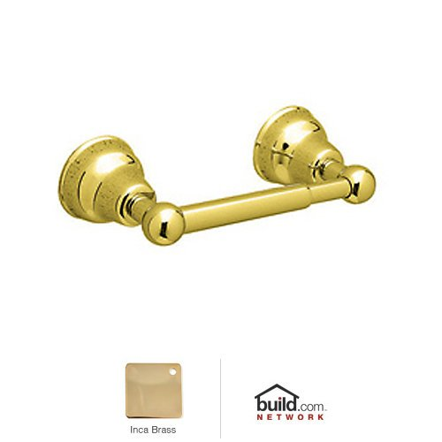 Cisal Paper Holders - Rohl CIS18 Cisal Double Post Toilet Paper Holder, Inca Brass