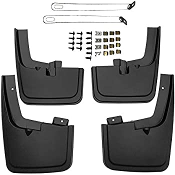 biosp Auto Mud Flaps Splash Guards For Chevrolet Chevy Cruze 2017 2018 2019 Front and Rear Fender Cover PP-Custom Fit Black Molded 4Pcs Set
