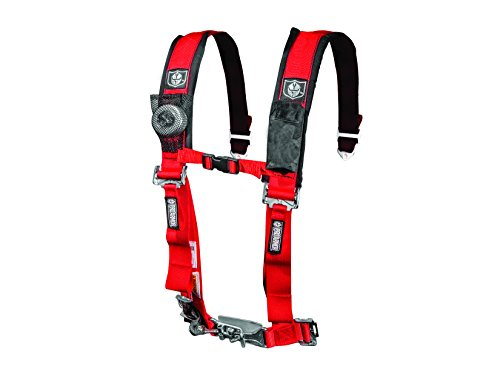 "Pro Armor A114220RD Red 4-Point Harness with 2"" Pads"
