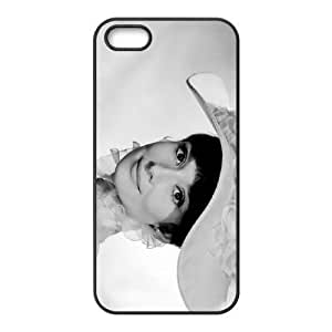 Hard Back Cover Protector Mxpdz iPhone 5, 5S Cell Phone Case Black Audrey Hepburn Design Durable Phone Cases