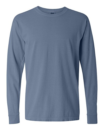 Comfort Colors by Chouinard Adult Heavyweight Long-Sleeve Tee - Blue Jean, Medium