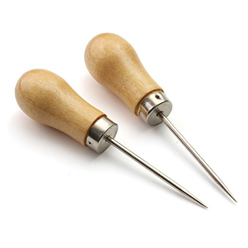 Why Should You Buy SanSiDo 2pcs Wooden Handle Awl 4.13 Scratch Awl DIY Leathercraft Stitching Awl J...