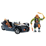 Teenage Mutant Ninja Turtles Movie 2 Out Of The Shadows Michelangelo With Polaris Vehicle With Figure