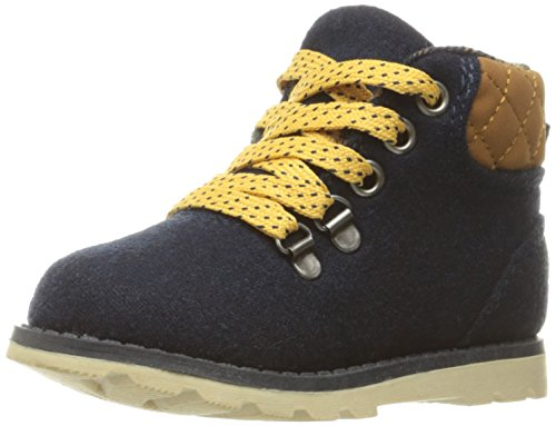 [carter's Boys' Marsh Pull-on Boot, Blue/Yellow, 10 M US Toddler] (Boys Boots Sale)