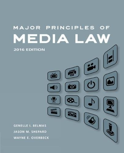 Major Principles of Media Law, 2016 by Wadsworth Publishing