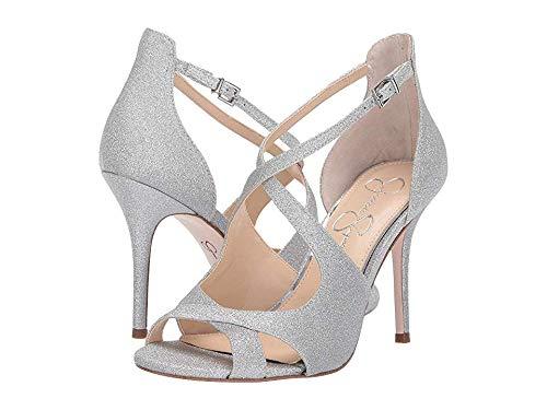 Jessica Simpson Women's Averie Silver Micro Flash 7 M US