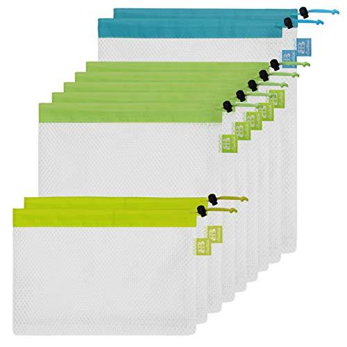 Bolsas de malla producir reutilizables lavables Eco Friendly Juego de bolsas para las compras de comestibles & Storage,...