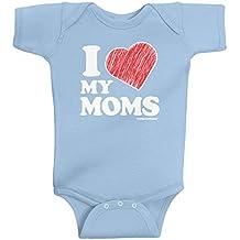 Threadrock Baby Boys' I Love My Moms Infant Bodysuit