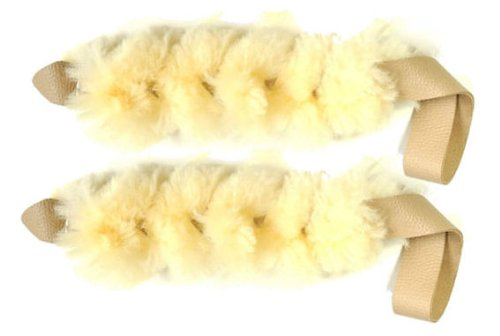 Bundle of 2 of our Real Sheep Skin Dog / Puppy Tug Toy Small RedLine K9 For Sale