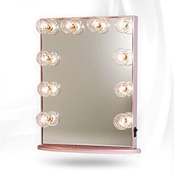 Hollywood Glow Vanity Mirror By Impressions Vanity Large Rose Gold