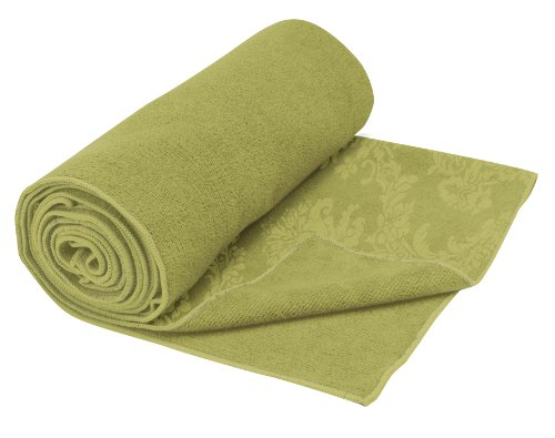 Gaiam Yoga Mat Towel, Neo Baroque-Green