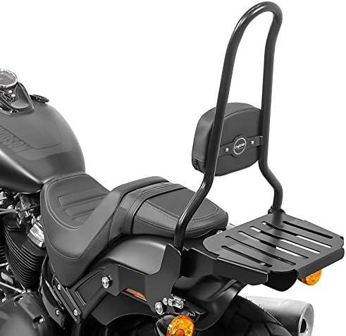 Sissy Bar Csxl Mit Gepäckträger Kompatibel Für Harley Davidson Softail Fat Bob 18 20 Schw Auto