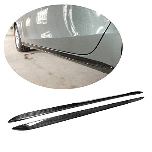 Kit Extenstion (MCARCAR KIT Fits Audi A5 Sportback 4Door Non-Sline Non-S5 2011 Side Skirts Extenstion Tuning Carbon Fiber Body Trim Guard)