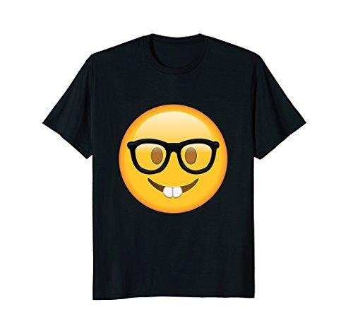 Mens Nerd Glasses Buckteeth T Shirt Medium - Nerd Male Glasses