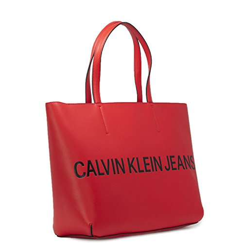 poliuretano Bolso hombro Rojo One size mujer Calvin Klein al para de qXwnxp14g