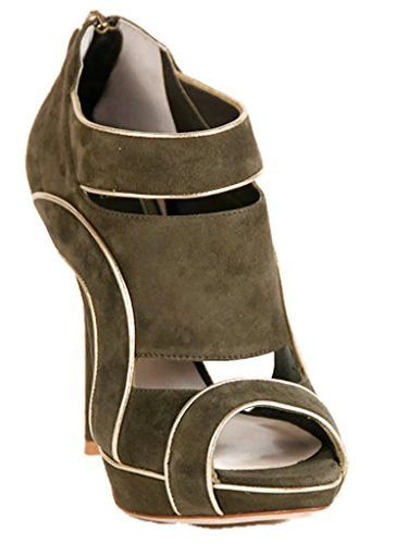 - Dior Christian Wave Green Suede Sandals 35.5 US 5.5