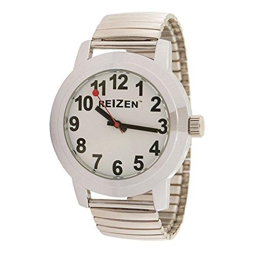 Watch Face Band Expansion (Reizen Low Vision Quartz Watch - White Face - Expansion Band - Unisex)