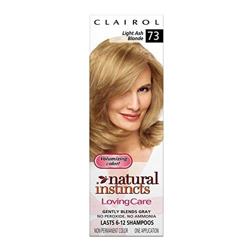 Clairol Natural Instincts Loving Care Color, 073 Light Ash Blonde (Pack of 4)