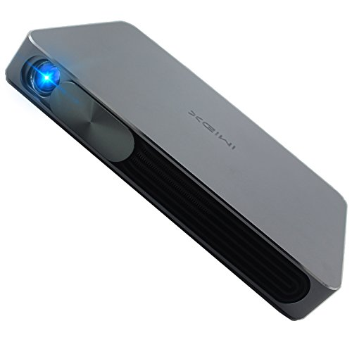 2016 Updated XGIMI Mini Portable LED DLP Projector with 13600mAH Bulit-in LG Battery, 1000LM 1280x720P Andriod 4.4 WIFI Bluetooth Smart HDMI 3D Projector, 30,000 Hour LED Life, Media Player (Black)