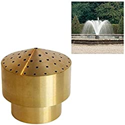 NAVADEAL 3/4 DN20 Brass Cluster Water Fountain Nozzle Spray Pond Sprinkler - For Garden Pond, Amusement Park, Museum, Library
