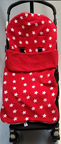 Snuggle Footmuff / Cosy Toes Compatible with Quinny Buggy Buzz Zapp Extra Moodd Pram Red Star