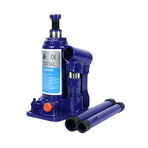 2 Ton Hydraulic Bottle Jack With Safety Valve Blue Car Jack - 2 Ton Capacity / ZBN by ZBN