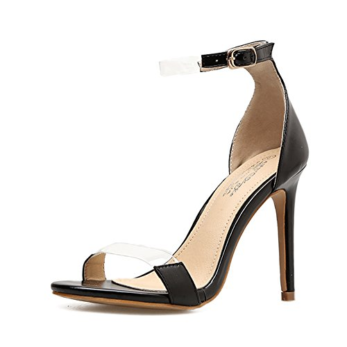 Pumps Plateau Stiletto High Open Römischer Damen Heel Party KJJDE GZSL Hochzeit A294 Pumps Klub Toe Schuhe Stiletto Stil Hohl n1vqF16BSw