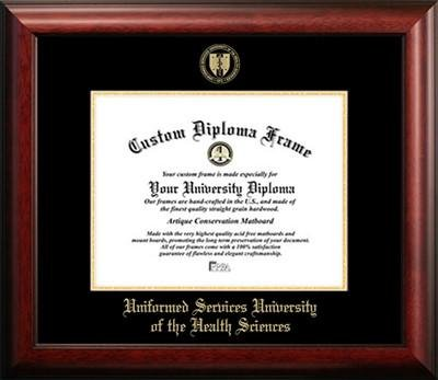 Uniformed Services University of the Health Sciences Graduation Diploma Frame