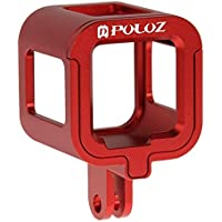 PULUZ Housing Case Shell CNC Aluminum Alloy Protective Cage with Insurance Frame for GoPro HERO4 Session(Red)