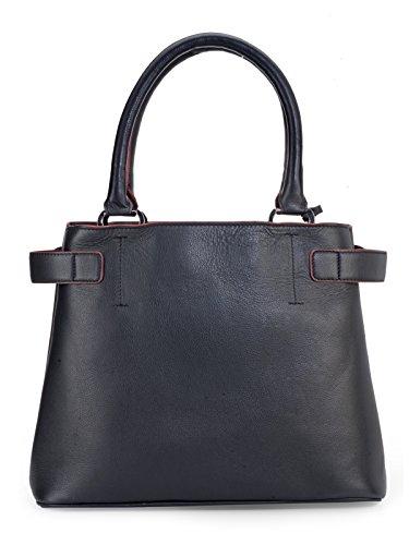 Phive fiumi Borsa in pelle da donna, colore: nero (PR1091)