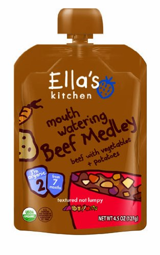 Ella's Kitchen Mouth Watering Beef Medley, 4.5 Ounce (Pac...