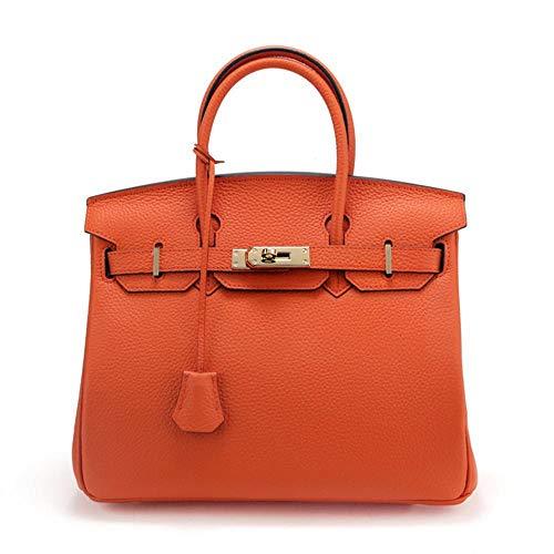 de pour Sacs fourre 30 WWAVE Couche Sac d'épaule Baotou Cuir Dames Unique Tout orange Platine Litchi Cuir modèle à Femelle Vache Main Fashion Fttqd1POw