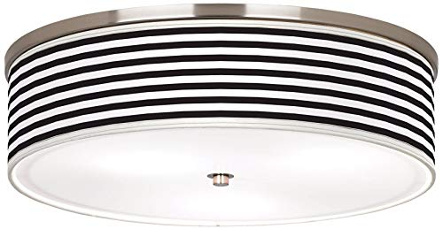 Liz Modern Ceiling Light Flush Mount Fixture Brushed Nickel 20 1/4