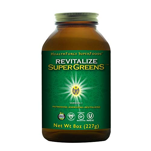 HealthForce SuperFoods Revitalize Super Greens - 8 oz Powder - Natural Green Superfood Complex with Antioxidants, Supports Healthy Inflammatory Response - Organic - 30 Servings