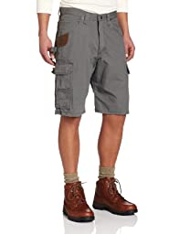 RIGGS WORKWEAR by Wrangler Men\'s Ripstop Ranger Short, Slate, 34
