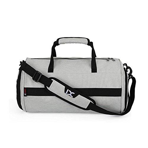 DANLIA Fitness Cylinder Bag Travel Bag Luggage Shoulder Bags for Man (Gray) - Cylinder Tote Purse