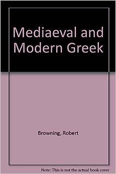 Book Mediaeval and Modern Greek